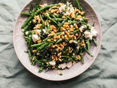Green Bean Salad With Pine Nuts And Feta Recipe - Genius Kitchen Bacon Recipes, Appetizer Recipes, Salad Recipes, Yummy Recipes, Keto Recipes, Green Bean Salads, Green Bean Recipes, Green Veggies, Best Thanksgiving Appetizers