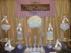 White Bling Candy Buffet by OC Sugar Mama