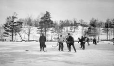 Hockey in High Park, Toronto, 1914 Toronto Ontario Canada, Toronto City, Toronto Travel, Old Pictures, Family Pictures, Toronto Photos, History Pics, Greater Toronto Area, Canadian History