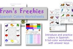 Frans Freebies free packet of printable Spanish colors posters, puzzles, and worksheets Preschool Spanish, Spanish Activities, Spanish Colors, Color Crafts, Learning Colors, Teaching Kindergarten, Home Schooling, Worksheets, Homeschool