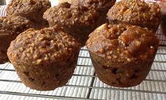 Pink-Vegan: Daniel Fast Apple Steel Cut Oat Muffins