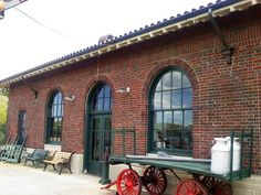 Hyde Park,New York USA  - train station    -  Romanesque Style architecture  OL