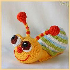 cute crochet snail