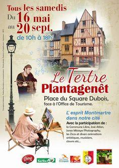 Création graphique affiche Le Tertre Plantagenêt pour l'association Commune libre du Vieux Mans.