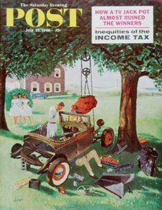 Saturday Evening Post - 1961-07-15: Working on the Jalopy (George Hughes)
