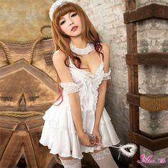 コスプレ/ロリィタ ゴスロリ ワンピース 白 アイドル ウェディング ドレス ミニワンピ AKB48 z410