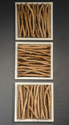 33 DIY living room wall decor that you want in your place Wood Stick Decor, Wooden Wall Decor, Room Wall Decor, Wooden Walls, Diy Wall Art, Wood Wall Art, Wall Décor, Stick Wall Art, Framed Wall