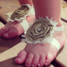 Vintage Floral Footsies, Barefoot Sandal, Baby girl birthday, Baby shower gift, First birthday, Spring pictures