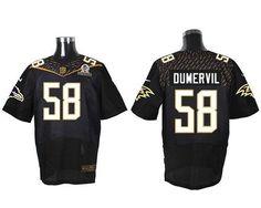 Nike Ravens #58 Elvis Dumervil Black 2016 Pro Bowl Men's Stitched NFL Elite Jersey