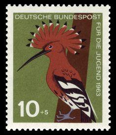 Stamp Art - Animal - Bird - German 1963 - Woodpecker
