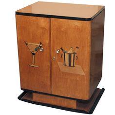 Art Deco Bar Cabinet c 1930