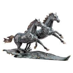 San Pacific International Range Runners Horse Sculpture - 80295
