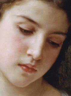 William-Adolphe Bouguereau ~ Head of a Young Girl (detail), 1898