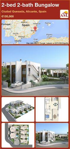 2-bed 2-bath Bungalow in Ciudad Quesada, Alicante, Spain ►€135,000 #PropertyForSaleInSpain