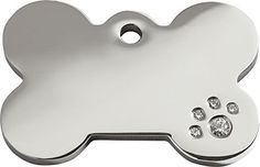 Red Dingo Stainless Steel and Swarovski Diamante Pet ID Tag  Bone small >>> This is an Amazon Affiliate link. For more information, visit image link.