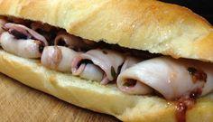 Sandwich de calamares y alioli · @sandwishare · #sandwich