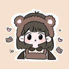 Mini Drawings, Cute Little Drawings, Cute Cartoon Drawings, Cute Cartoon Girl, Cartoon Art Styles, Kawaii Drawings, Cute Pastel Wallpaper, Kawaii Wallpaper, Wallpaper Iphone Cute