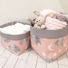 A personal favourite from my Etsy shop https://www.etsy.com/uk/listing/510493012/pink-lullaby-pair-of-storage-baskets