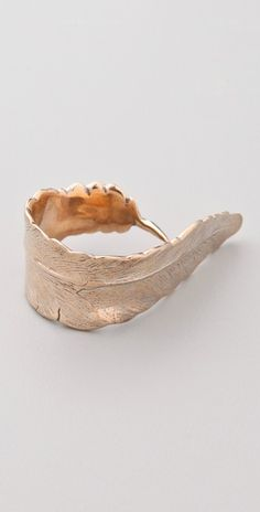 feather ring by Cornelia Webb.