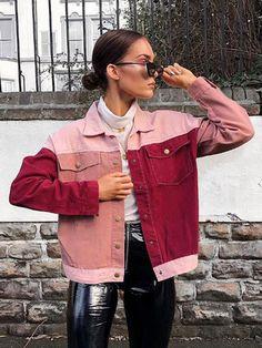 9024b8f0a88f 13 Best Pink Denim Jacket images | Pink denim jacket, Denim jackets ...