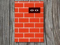 'Brick Wall' by Giacomo Bagnara, a Paper Planes postcard for Urban Graphic Ltd.