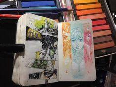 """4,130 Likes, 8 Comments - Kenneth Rocafort (@mitografia_kr) on Instagram: """"262 of 366 #mitografia #kennethrocafort #illustration #illustrator #dailysketch #sketch #sketchbook…"""""""