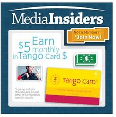 Join Media Insiders – get up to $15/month in gift cards for doing nothing!  I personally get a $5 gift card from them every month!