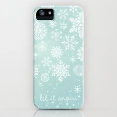 I want this for winter so bad! Let it snow iPhone Case by Angela Fanton - $35.00