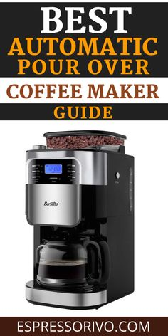 The automatic pour over machine works by heating the water before it is showered onto the coffee grounds. Visit our website to see them all..... #coffeemaker # Automaticcoffeemaker #pourovercofffeemaker #espressorivo Pour Over Coffee Maker, Best Coffee Maker, Coffeemaker, Kitchen Appliances, Website, Water, Best Drip Coffee Maker, Diy Kitchen Appliances, Gripe Water