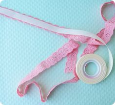 make your own lace or ribbon tape