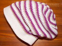Mütze häkeln – Long Beanie mit verschiedenen Maschen