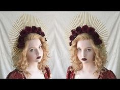 Spiked Halo Headpiece Tutorial This was fun to make. I think I'll make up a bunch of these and sell them on… Cosplay Tutorial, Cosplay Diy, Mermaid Crown, Diy Crown, Braut Make-up, Flower Headpiece, Halloween Disfraces, Headgear, Larp