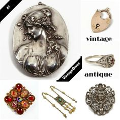 Find unique jewelry at VintageGemz!  Both fine and costume, with fresh estate finds weekly,  a distinctive piece is waiting for you! www.vintagegemz.com #vintage #antique #jewelry #fine #costume #heart #rings #necklaces #brooches #pendants #sterlingsilver #gold #edwardian #jewellery #1950s #fashion #girl #beautiful #retro