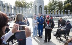 Astronaut Jack Fischer With Honor Flight Veterans Follow @GalaxyCase if you love Image of the day by NASA #imageoftheday