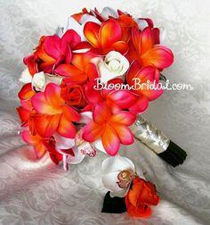 Elegant Tropical Flowers Wedding Bouquet 97 For Your Inspirational Wedding Flower Arrangements with Tropical Flowers Wedding Bouquet Plumeria Bouquet, Silk Flower Bouquets, Flower Bouquet Wedding, Silk Flowers, Prom Bouquet, Altar Flowers, Prom Flowers, Boquet, Bridal Bouquets