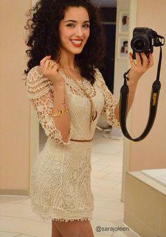 Vintage Crochet Dress - with Belt @LookBookStore