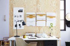 LINNMON/GODVIN tafel | #IKEA #bureau #werkplek #opbergen #interieur #hout #wit