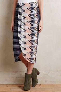 20228daae Maeve Plata Chevron Skirt  anthrofave Chevron Skirt