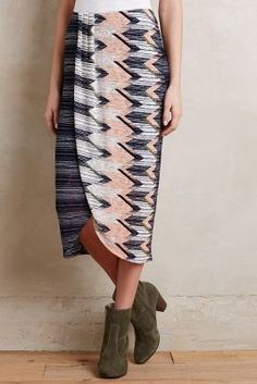 Maeve Plata Chevron Skirt #anthrofave