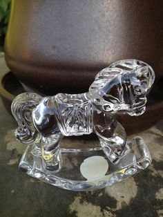 Princess House Crystal Rocking Horse by TreasuredTrinketsMAR, $15.99