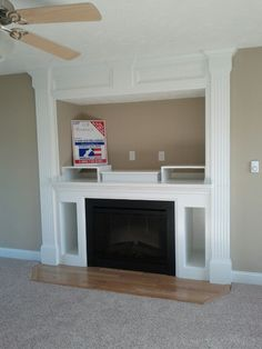 Built-in entertainment center with the electric fireplace
