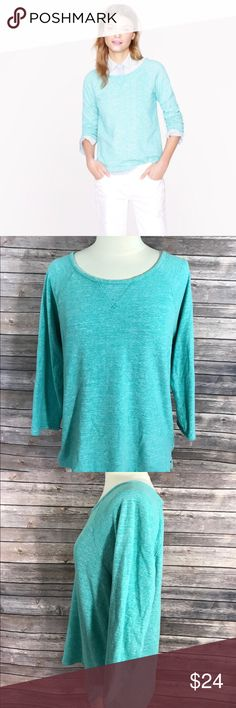 J Crew Sz M Featherweight French Terry Sweatshirt J Crew Womens Top Featherweight French Terry Sweatshirt Size Medium Green. Measurements: (in inches) Underarm to underarm: 19 Length: 23  Good, gently used condition J. Crew Tops Sweatshirts & Hoodies