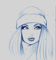 drawing girl Girl Face Drawing, Art Studios, Cute Art, Aurora Sleeping Beauty, Art Gallery, Illustration Art, Character Design, My Arts, Sketches