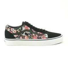 Vans Old Skool Donna Basse Floral - new collection A/I 2014-15   #vans #sneakers #skate #skateboard #skateboarding