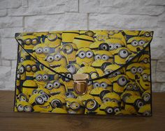 Items similar to Minions bag pochette envelope clutch READY TO SHIP - Perfect gift on Etsy Minion Bag, Minions, Special Occasion Shoes, Envelope Clutch, Handmade Bags, Bag Making, Ship, Gifts, Stuff To Buy