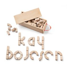 Kay Bojesen Alphabet Blocks $100. - RoyalDesign.com