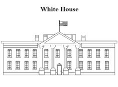 Printable White House Coloring Sheet Can Be Printed And Is A Great Free Item If You Like Sheets Then Check Out Our
