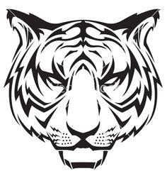 Tattoo tigers head vector by JRMurray76 - Image #603653 - VectorStock