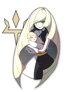 Lusamine and baby Lillie