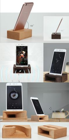 Bamboo Wooden iPhone Cell Phone Speaker Sound Amplifier iPhone iPad SmartPhone Trumpet Holder Stand Mount Amplifier Loudspeaker for iPhone and Other Cell Phone Small Wood Projects, Diy Projects, Woodworking Plans, Woodworking Projects, Wood Phone Holder, Diy Phone Stand, Phone Sounds, Iphone Docking Station, Wooden Speakers